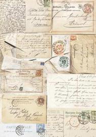 Postcards, silk Paper, zijdepapier