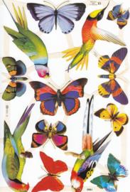Vlinders, poëzieplaatje Mamelok