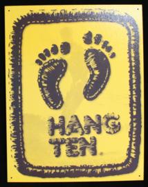 Wandbord metaal Hang Ten