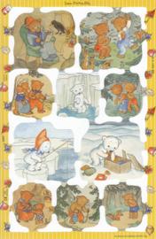 Teddy- & IJsberen, poëzieplaatje Mamelok