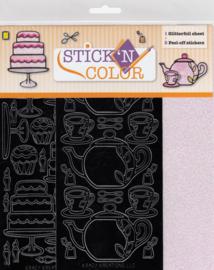 High Tea, Stick'n color glitterfoil
