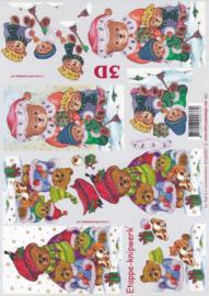 Kerstbeertje, 3d knipvel Le Suh