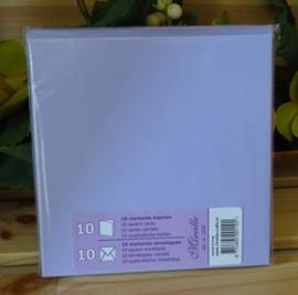 Vierkante kaart & Envelop, lila