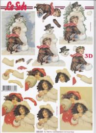 Nostalgische kerst, 3d stansvel Le Suh