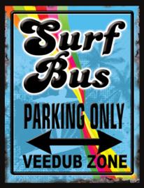 Wandbord metaal Surf Bus Parking Only