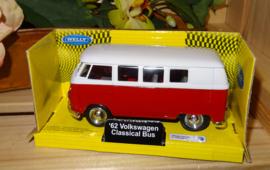 Volkswagenbusje Classic, rood