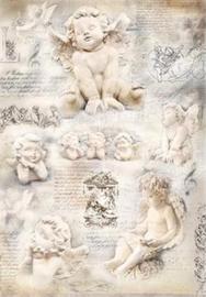 Angels, silk Paper, zijdepapier