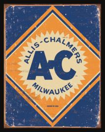 Wandbord metaal Allis Chalmers logo,
