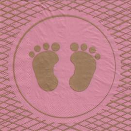 Baby voetjes meisje, servet