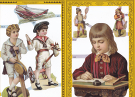 Vintage kinderen, poëzieplaatje Golden serie