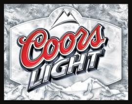 Wandbord metaal Coors Light bier