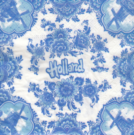 Hollands Delfts blauw, servet