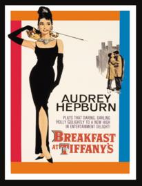 Wandbord metaal Audrey Hepburn