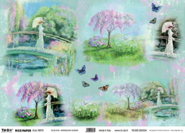 Impressionist Garden, To-Do Rice paper