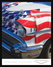 Wandbord metaal Lewis met Amerikaanse vlag