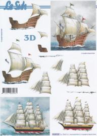Zeilschepen, 3D Knipvel Le Suh