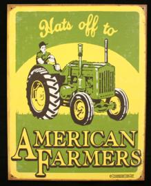 Wandbord metaal American Farmers tractor