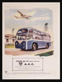 Wandbord metaal Autobus