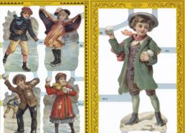 Sneeuwpret, poëzieplaatje Golden serie