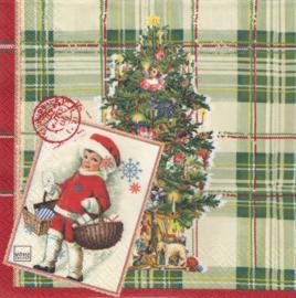 Vintage Girl Christmas, servet