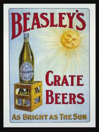 Wandbord metaal Beasley's Crate Beers