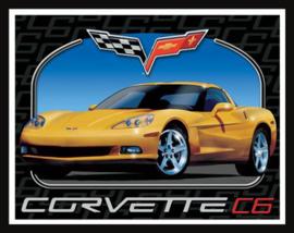 Wandbord metaal Corvette C6
