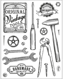 Vintage Tools, Clear stamp