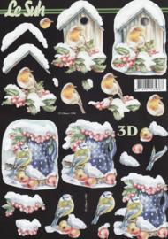 Vogelhuisje, 3D knipvel Le Suh
