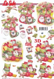 Kerstsokken, 3D knipvel Le Suh