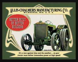 Wandbord metaal Allis Chalmers tractor