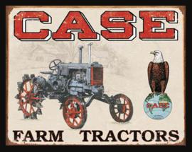 Wandbord metaal Case Farm Tractors