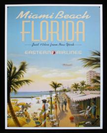 Wandbord metaal Miami Beach