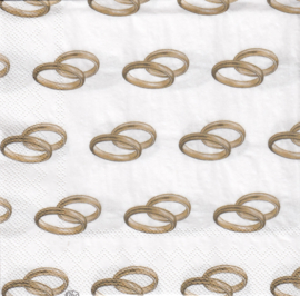 Wedding rings gold, servet