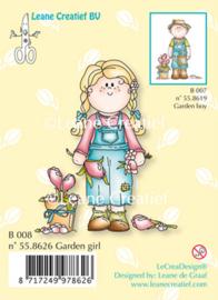 Bambini garden girl, Clear Stamp