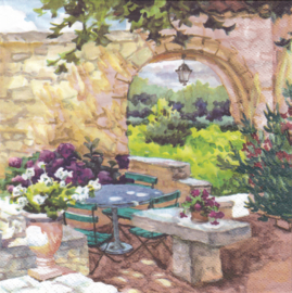 Patio morning in the Provence, servet