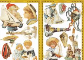Nautische kinderen, poëzieplaatje Golden serie