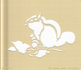 Eekhoorn, Embossing sjabloon