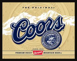 Wandbord metaal Coors bier logo