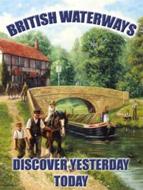 Wandbord metaal Britisch Waterways