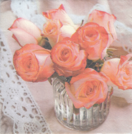 Roses in vase, XL servet
