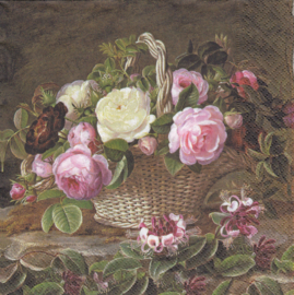 Old England roses, servet