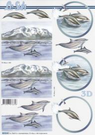 Dolfijnen, 3D Knipvel Le Suh