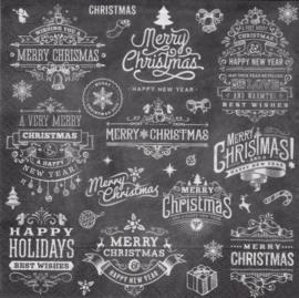 Merry Christmas tekst, servet