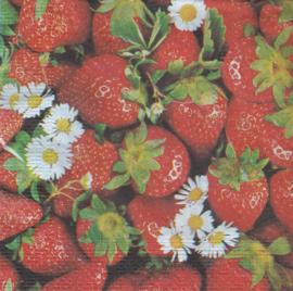 Aardbeien, servet