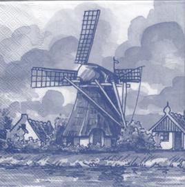 Delfts blauwe molen, servet