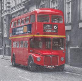 Red bus, servet