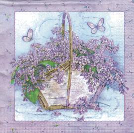 Bloemenmandje & Vlinders, servet