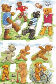 Sportende Teddyberen, poëzieplaatje Mamelok
