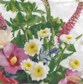 Gemengde bloemen, servet