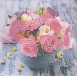Bloemen in vaas, XL servet